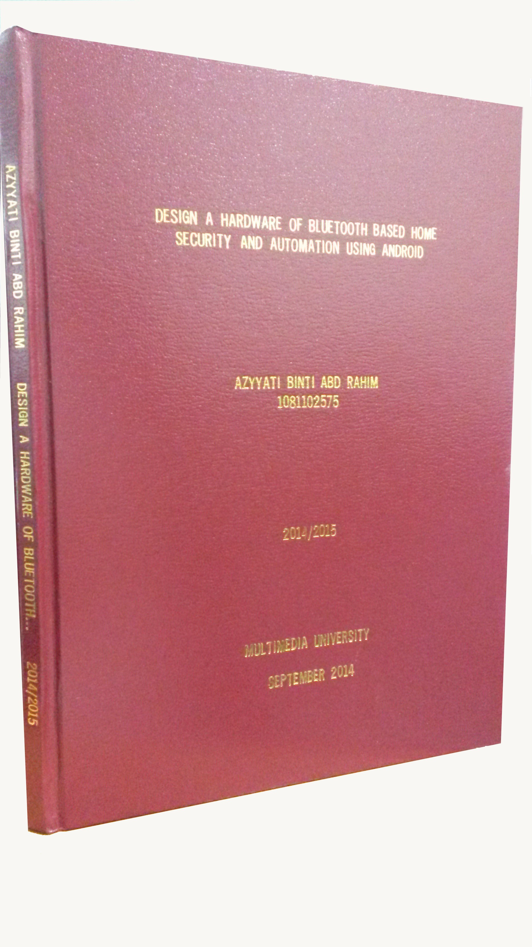 Hardcover thesis uitm